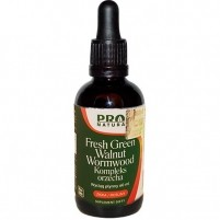 Fresh Green Walnut Wormwood Extract Kompleks czarny orzech 60ml - Now Foods